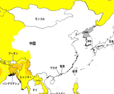 海外の危険な国レベル1